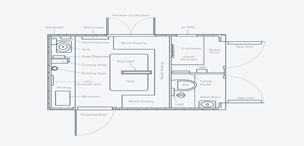 Towable Welfare Hire Floor Plan