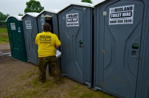 Event Portable Toilet Hire from Midland Toilet Hire