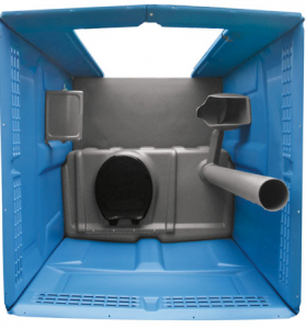 Interior of Portable Toilet