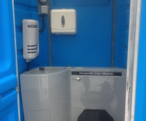 Mains portable toilet hire