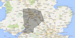 CoveragePortable Toilet West Midlands Map
